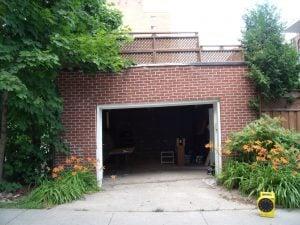 affaissement gauche garage - Stabilisation fondation garage - Alerte fissure